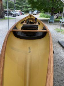 My canoe getting prepared