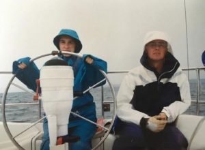 rainy day sailing with my day