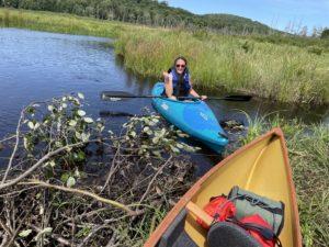 Fording the beaver dam