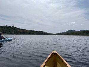 Paddling on Vly Lake