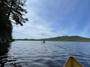Heading back on Vly Lake