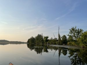 View down Otter Lake