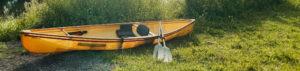 canoe alongside canal