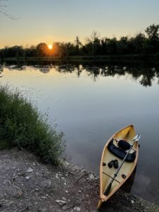 Canoe at Pool's Brook at Dusk